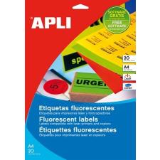 APLI Etikett, 60 mm kör, színes, APLI, neon sárga, 240 etikett/csomag etikett