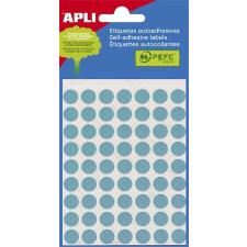 APLI Etikett,8mmkör,kézzelírható,színes,APLI,kék,288etikett/csomag etikett