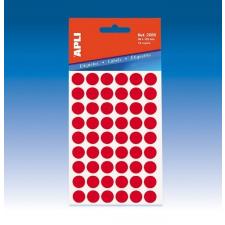 APLI Etikett,8mmkör,kézzelírható,színes,APLI,piros,288etikett/csomag etikett