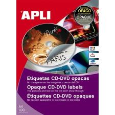 APLI Etikett, CD/DVD, A4, fedőetikett, APLI etikett
