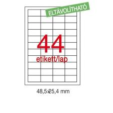 APLI Etikett LCA03054 48,5 x 25,4 mm eltávolítható 4400db/csom Apli etikett