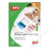 APLI Fotópapír, lézer, A4, 160 g, fényes, kétoldalas, APLI Premium Laser (LEAA11817)