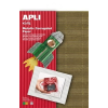 APLI Hullámkarton papír, 297x210 mm, 4 ív, APLI, vegyes színek (LCA13827)