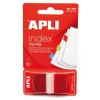 APLI Jelölőcímke, műanyag, 50 lap, 25x45 mm, APLI, piros