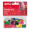 APLI Konfetti, metál, 15 mm, szív, , vegyes színek