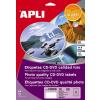 APLI Mega CD/DVD-címke, fotó minőségű, külső átmérő 114 mm, belső átmérő 18 mm