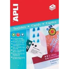 APLI Névjegykártya, 90x55 mm, 200 g, mikroperforált, APLI nyomtató kellék