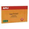 APLI Öntapadó jegyzettömb, 125x75 mm, 100 lap, APLI, narancssárga