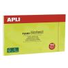 APLI Öntapadó jegyzettömb, 125x75 mm, 100 lap, APLI, zöld