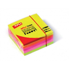 APLI Öntapadó jegyzettömb, 51x51 mm, 250 lap, APLI, neon jegyzettömb