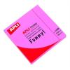 APLI Öntapadó jegyzettömb, 75x75 mm, 100 lap, APLI, neon rózsaszín