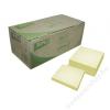 APLI Öntapadó jegyzettömb, 75x75 mm, 100 lap, újrahasznosított, APLI, sárga (LNP11987)