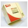 APLI Öntapadó jegyzettömb, 75x75 mm, 400 lap, APLI, sárga (LNP11597)