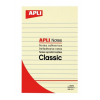 APLI Öntapadó jegyzettömb, vonalas, 100x150 mm, 100 lap, APLI, sárga