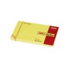 APLI Öntapadós jegyzettömb, 100 lapos, sárga, 125 x 75 mm