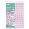 APLI Textil lap, öntapadós, 210×297 mm, APLI, 4 különböző minta