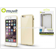 Apple Apple iPhone 6/6S hátlap - Muvit Frame TPU - clear/gold tok és táska