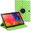 Apple iPad Mini / iPad Mini 2 / iPad Mini 3, mappa tok, elforgatható (360°), fehér pöttyös, zöld