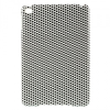 Apple iPad Mini, Műanyag hátlap védőtok, fekete pöttyös, fehér