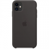 Apple iPhone 11 szilikon tok fekete