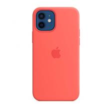 Apple iPhone 12/12 Pro MagSafe-rögzítésű szilikon tok, pink citrus tok és táska