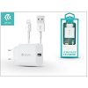 Apple iPhone 5/5S/5C/SE/6S/6S Plus USB hálózati töltő adapter + lightning adatkábel - 5V/2,1A - Devia Smart Fast Charger Suit - white
