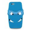 Apple iPhone 5 / 5S / SE, TPU szilikon tok, 3D tini nindzsa minta, kék