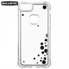 Apple iPhone 6 / 6S / 7 / 8, Műanyag hátlap védőtok, szilikon keret, ütésálló, Ballistic Jewel, buborék minta, átlátszó/fekete