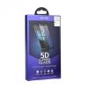 Apple iPhone 6 / 6S, Kijelzővédő fólia, ütésálló fólia (az íves részre is!), Tempered Glass (edzett üveg), Roar, 5D, fekete