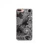 Apple iPhone 6 / 6S, TPU szilikon tok, rajzolt erdő minta, Prémium, TrendLine, fekete/fehér