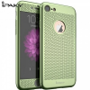Apple iPhone 7 / 8, Műanyag hátlap védőtok (elő- és hátlapi) + Tempered Glass (edzett üveg), lyukacsos minta, IPAKY, zöld