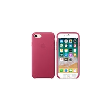 Apple iPhone 8/7 gyári bőr hátlap tok, fuksziapink, MQHG2ZM/A tok és táska