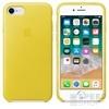 Apple iPhone 8/7 gyári bőr hátlap tok, tavaszi sárga, MRG72ZM/A