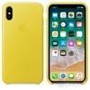Apple iPhone X gyári bőr hátlap tok, tavaszi sárga, MRGJ2ZM/A