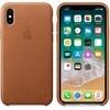 Apple iPhone X gyári bőr hátlap tok, vörösesbarna, MQTA2ZM/A