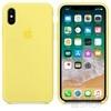 Apple iPhone X gyári szilikon hátlap tok, limonádé sárga, MRG32ZM/A