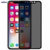 Apple iPhone X, Kijelzővédő fólia, ütésálló fólia (az íves részre is!), Tempered Glass (edzett üveg), Anti Spy, Nillkin, AP+ MAX, fekete