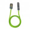 Apple Lightning + microUSB iPhone 5 5C 5S 6 6 Plus / iPad 4/ iPad Mini/ iPod Touch 5 USB 1m töltő- és zöld adatkábel utángyártott