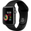 Apple Watch 3 GPS + Cellular 42mm Space Back Steel Case Black Band  MQM02ZD/A