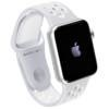 Apple Watch Nike+ 42mm Silver Alu tok with Platinum/White Ban