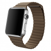 Apple Watch Stainless Steel Silver 42mm - Leather Brown Loop