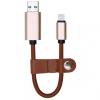 AppleKing Elegáns 2 az egyben töltő kábel és flash memóraával Apple iPhone / iPad / iPod - barna - 32GB