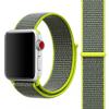 AppleKing Nejlon Apple Watch 3 / 2 / 1 szíj mágneses zárással - 42mm - zöld / szürke