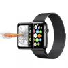 AppleKing Védő edzett 3D üveg kerettel Apple Watch 38mm - 3. generáció - 0.2mm - fekete