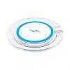 AppleKing Vezeték nélküli QI töltő gyorstöltéssel és világító jelzővel iPhone X / 8 / 8 Plus készülékekhez - kék