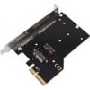 Aquacomputer kryoM.2 PCIe 3.0 x4 adapter for M.2 NGFF PCIe SSD, M-Key /53222/