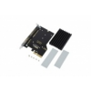 Aquacomputer kryoM.2 PCIe 3.0 x4 adapter for M.2 NGFF PCIe SSD, M-Key with passive heatsink /53223/