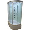 Aqualife Brill D1202 fehér aszimmetrikus zuhanykabin BALOS