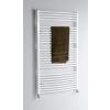 Aqualine fürdőszobai radiátor, 600x970 mm, íves fehér (ILO96)