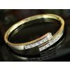 Arannyal bevont karperec 6 karátos szimulált gyémánttal + AJÁNDÉK DÍSZDOBOZ (0305. )